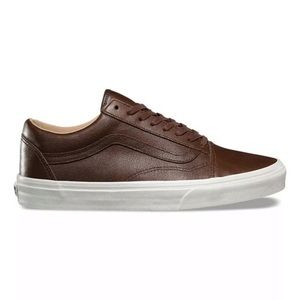 Vans Shoes - Vans Old Skool lux leather brown sneaker shoes 7